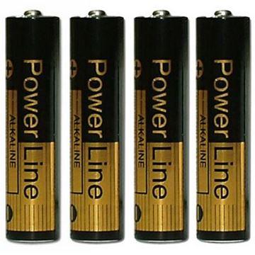 Billede af Powerline Alkaline Batterier AAA - 4 stk