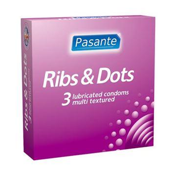 Billede af Pasante Ribs & Dots Kondomer - 3 stk