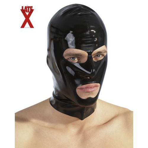 Billede af Late X Sort Latex Maske